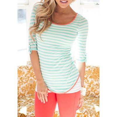 Stylish Scoop Collar Half Sleeve Striped Bowknot Design Womens T-ShirtWomens T-Shirts<br>Stylish Scoop Collar Half Sleeve Striped Bowknot Design Womens T-Shirt<br><br>Material: Polyester,Cotton Blends<br>Clothing Length: Regular<br>Sleeve Length: Half<br>Collar: Scoop Neck<br>Style: Fashion<br>Pattern Type: Striped<br>Weight: 0.350KG<br>Package Contents: 1 x T-Shirt