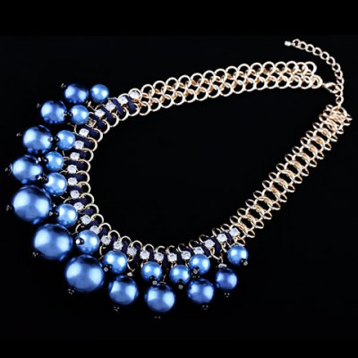 Фотография Trendy Round Faux Pearl Necklace For Women