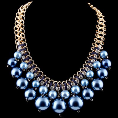 Trendy Round Faux Pearl Necklace For Women