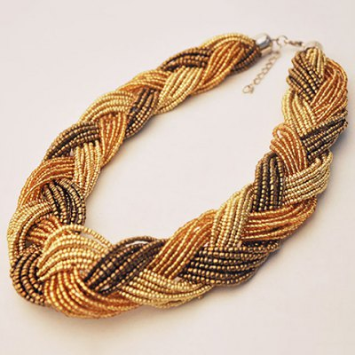 Фотография Classic Beads Weaved Necklace For Women