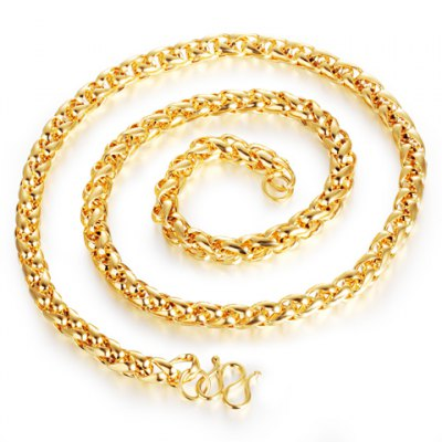 Stylish Solid Color Chain Necklace For Men