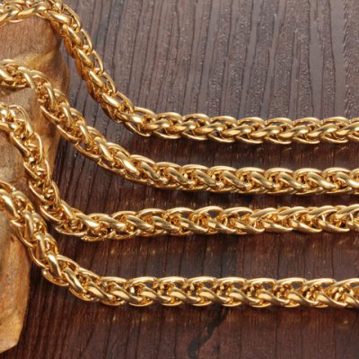 Фотография Stylish Solid Color Chain Necklace For Men