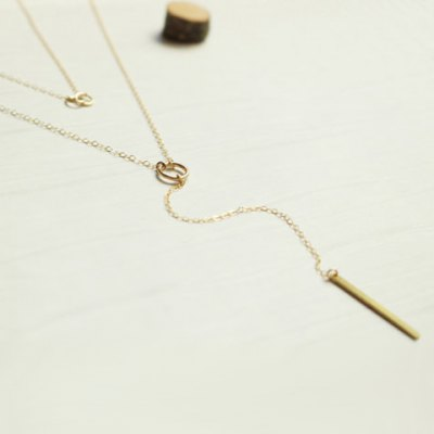Stylish Solid Color Bar Layered Lariat Necklace For Women