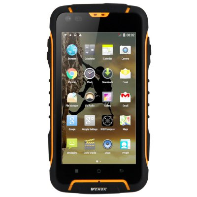 VCHOK F6 3G SmartphoneCell Phones<br>VCHOK F6 3G Smartphone<br><br>Type: 3G Smartphone<br>OS: Android 4.4<br>Languages: Simplified/Traditional Chinese, Bahasa Indonesia,  Cestina, Deutsch, English, Spanish, French, Italian, Portuguese, Vietnamese, Greek, Russian, Arabic, Hindi, Thai, Bengali<br>SIM Card Slot: Dual SIM,Dual Standby<br>SIM Card Type: Standard SIM Card<br>CPU: MTK6582<br>Cores: 1.3GHz,Quad Core<br>GPU: Mali-400 MP<br>RAM: 1GB RAM<br>ROM: 16GB<br>External Memory: Micro SD card up to 32GB (not included)<br>Wireless Connectivity: 3G,Bluetooth,GPS,WiFi<br>WIFI: 802.11b/g/n wireless internet<br>Network type: GSM+WCDMA<br>2G: GSM 850/900/1800/1900MHz<br>3G: WCDMA 900/1900/2100MHz<br>Screen type: Capacitive,Capacitive (5-Points)<br>Screen size: 4.5 inch<br>Screen resolution: 854 x 480 (FWVGA)<br>Camera type: Dual cameras (one front one back)<br>Back camera: 8.0MP,with flash light and AF<br>Front camera: 0.3MP<br>Auto Focus: Yes<br>Flashlight: Yes<br>Video recording: Yes<br>Picture format: BMP,GIF,JPEG,PNG<br>Music format: AAC,MP3,WAV<br>Video format: 3GP,AVI,MP4<br>MS Office format: Excel,PPT,Word<br>E-book format: TXT<br>Live wallpaper support: Yes<br>Games: Android APK<br>I/O Interface: 2 x Standard SIM Card Slot,3.5mm Audio Out Port,Micophone,Micro USB Slot,Speaker,TF/Micro SD Card Slot<br>IPXX Rating: IP68<br>Waterproof: Yes<br>Dustproof: Yes<br>Bluetooth version: V4.0<br>Sensor: Ambient Light Sensor,Gravity Sensor,Proximity Sensor<br>Google Play Store: Yes<br>OTG : Yes<br>Sound Recorder: Yes<br>Additional Features: 3G,Alarm,Bluetooth,Browser,Calculator,Calendar,E-book,FM,GPS,Gravity Sensing,Light Sensing,MP3,MP4,OTG,People,Proximity Sensing,Sound Recorder,Video Call,Wi-Fi<br>Battery Capacity (mAh): 1 x 2500mAh<br>Battery Type: Li-ion Battery<br>Cell Phone: 1<br>Screen Protector: 1<br>Tool for Opening Case: 1<br>Compass with Keychain : 1<br>Power Adapter: 1<br>USB Cable: 1<br>Earphones: 1<br>English Manual : 1<br>Product size: 14.40 x 7.80 x 1.30 cm / 5.67 x 3.07 x 0.51 inches<br>Package size: 18.50 x 10.50 x 7.00 cm / 7.28 x 4.13 x 2.76 inches<br>Product weight: 0.200 kg<br>Package weight: 0.610 kg