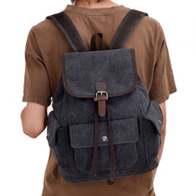 Trendy Rivets and Color Matching Design Men's Backpack