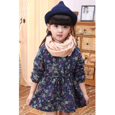 Sweet Long Sleeve Round Neck Flower Pattern Self-Tie Girls DressGirls Clothing<br>Sweet Long Sleeve Round Neck Flower Pattern Self-Tie Girls Dress<br><br>Style: Cute<br>Material: Cotton Blend<br>Silhouette: A-Line<br>Dresses Length: Mini<br>Neckline: Round Collar<br>Sleeve Length: Long Sleeves<br>Pattern Type: Floral<br>With Belt: No<br>Season: Spring,Fall<br>Weight: 0.308KG<br>Package Contents: 1 x Dress