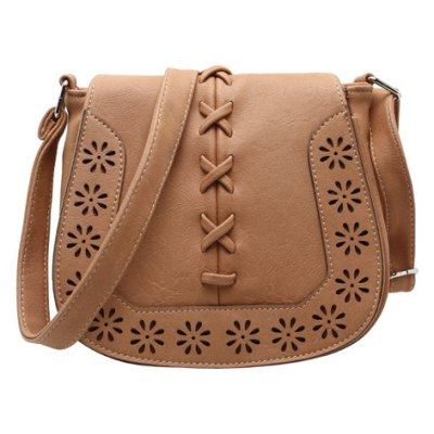 Hollow Flower Pattern Crossbody Bag
