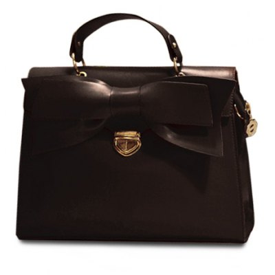 Elegant PU Leather and Bow Design Women's Tote Bag