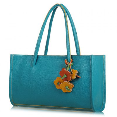 Retro Flowers Pendant and Candy Color Design Women's Tote Bag