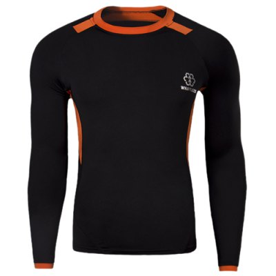 Round Neck Long Sleeve Quick-Dry T-Shirt