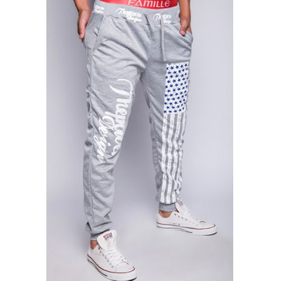 Loose Fit Stylish Lace-Up American Flag Print Beam Feet Mens Polyester Jogger PantsMens Pants<br>Loose Fit Stylish Lace-Up American Flag Print Beam Feet Mens Polyester Jogger Pants<br><br>Style: Fashion<br>Pant Style: Pencil Pants<br>Pant Length: Long Pants<br>Material: Polyester<br>Fit Type: Loose<br>Front Style: Flat<br>Closure Type: Drawstring<br>Waist Type: Low<br>Weight: 0.320kg<br>Package Contents: 1 x Jogger Pants