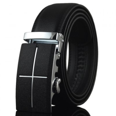PU Leather Alloy Automatic Buckle Belt For Men