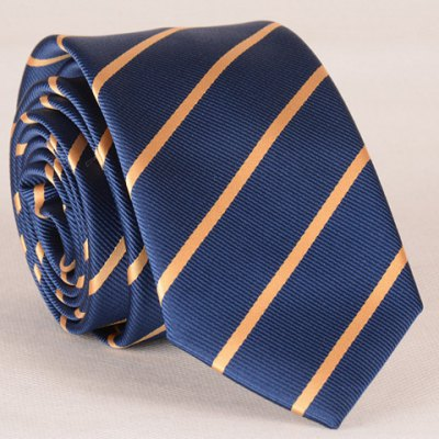 Yellow Twill Pattern Tie For Men