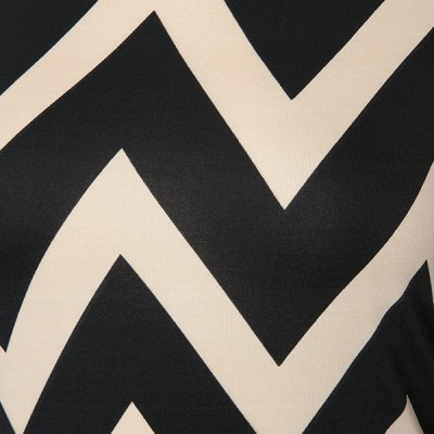 Fashionable Color Block Zigzag Printed Dress For Women