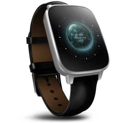 Zeblaze Crystal Smart WatchSmart Watches<br>Zeblaze Crystal Smart Watch<br><br>Brand: Zeblaze<br>Built-in chip type: MTK2502<br>Bluetooth version: Bluetooth 4.0<br>Waterproof: Yes<br>Bluetooth calling: Answering,Dialing,Phone call reminder,Phonebook<br>Messaging: Message reminder<br>Health tracker: Heart rate monitor,Pedometer,Sedentary reminder,Sleep monitor<br>Remote Control: Camera remote,Music remote<br>Notification: Yes<br>Anti-lost: Yes<br>Other Functions: Alarm,Calender,Stopwatch,Weather forecast<br>Groups of alarm: 3 sets<br>Alert type: Ring,Vibration<br>Screen: 3D single curved tempered glass<br>Screen resolution: 240 x 240 px<br>Screen size: 1.54 inch<br>Battery Capacity: 3.7V / 280mAh<br>Standby time: About 72 hours<br>People: Unisex watch<br>Bluetooth working range: 6 - 10 meters<br>Shape of the dial: Rectangle<br>Case material: Stainless Steel<br>Band material: Genuine Leather<br>Compatible OS: Android,IOS<br>Compatability: Android 4.4 - 5.1 and iOS 8.0 - 9.1 system<br>Language: Arabic,English,Finnish,French,German,Hebrew,Indonesian,Italian,Korean,Polish,Portuguese,Russian,Spanish,Swedish,Turkish<br>Available color: Black,White<br>Dial size: 4.2 x 4.9 x 1.1 cm / 1.65 x 1.93 x  0.43 inches<br>Package size (L x W x H): 9.10 x 9.10 x 8.00 cm / 3.58 x 3.58 x 3.15 inches<br>Product weight: 0.082 kg<br>Package weight: 0.260 kg<br>Package Contents: 1 x Zeblaze Crystal Smart Watch, 1 x Chinese and English Manual, 1 x Charging Cable