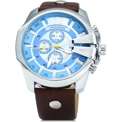 Curren 8176 Men Quartz WatchMens Watches<br>Curren 8176 Men Quartz Watch<br><br>Band material: Leather<br>Brand: Curren<br>Case material: Stainless Steel<br>Clasp type: Pin buckle<br>Display type: Analog<br>Movement type: Quartz watch<br>Package Contents: 1 x Curren 8176 Watch<br>Package size (L x W x H): 27.00 x 6.50 x 2.20 cm / 10.63 x 2.56 x 0.87 inches<br>Package weight: 0.153 kg<br>Product size (L x W x H): 26.00 x 5.50 x 1.20 cm / 10.24 x 2.17 x 0.47 inches<br>Product weight: 0.103 kg<br>Shape of the dial: Round<br>Special features: Decorating small sub-dials, Luminous, Date<br>The band width: 2.3 cm / 0.91 inches<br>The dial diameter: 5.5 cm / 2.16 inches<br>The dial thickness: 1.2 cm / 0.47 inches<br>Watch color: Brown, Black, Brown and Blue, Black and Golden, Khaki, White and Brown, Black and Orange<br>Watch style: Fashion<br>Watches categories: Male table<br>Wearable length: 18 - 23.5 cm / 7.09 - 9.25 inches