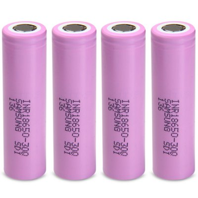 4x Samsung INR18650-30Q 3000mAh Battery
