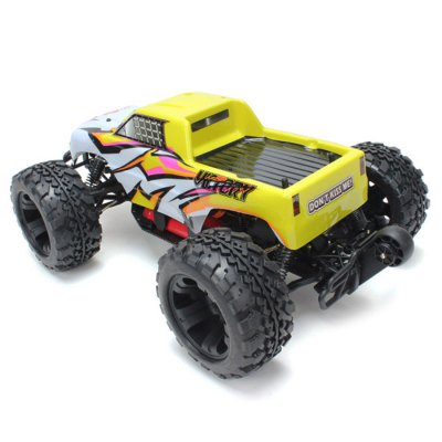FS - 53810 FS-53810 FS53810 Racing 1 : 10 2.4GH 4WD RC Electrical Truck Upgraded Version  US PlugRC Cars<br>FS - 53810 FS-53810 FS53810 Racing 1 : 10 2.4GH 4WD RC Electrical Truck Upgraded Version  US Plug<br><br>Brand: FS<br>Drive Type: 4 WD<br>Motor Type: Brushed Motor<br>Package Contents: 1 x RC Truck, 1 x ESC, 1 x Motor, 1 x Servo, 1 x Transmitter, 1 x 3600mA Battery, 1 x EU PLUG Charger<br>Package size (L x W x H): 60.00 x 36.00 x 25.00 cm / 23.62 x 14.17 x 9.84 inches<br>Package weight: 4.9460 kg<br>Product size (L x W x H): 51.00 x 33.00 x 24.00 cm / 20.08 x 12.99 x 9.45 inches<br>Product weight: 2.4000 kg<br>Remote Control: 2.4GHz Wireless Remote Control<br>Type: Monster Truck