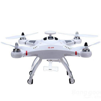 Top Seller Cheerson CX  -  20 GPS Auto Pathfinder Quadcopter with Camera Mounting BaseRC Quadcopters<br>Top Seller Cheerson CX  -  20 GPS Auto Pathfinder Quadcopter with Camera Mounting Base<br><br>Age: Above 14 years old<br>Brand: Cheerson<br>Built-in Gyro: Yes<br>Channel: 4-Channels<br>Detailed Control Distance: About 300m<br>Flying Time: &gt; 6mins<br>Functions: Turn left/right, Sideward flight, Hover, Forward/backward, Camera, Up/down<br>Kit Types: RTF<br>Level: Advanced Level<br>Material: Plastic<br>Mode: Mode 2 (Left Hand Throttle)<br>Model Power: Built-in rechargeable battery<br>Motor Type: Brushless Motor<br>Night Flight: Yes<br>Package Contents: 1 x CX - 20 Auto-Pathfinder RC Quadcopter, 1 x Transmitter, 1 x Charger, 1 x Copter Battery<br>Package size (L x W x H): 65.50 x 36.50 x 15.50 cm / 25.79 x 14.37 x 6.1 inches<br>Package weight: 2.723 kg<br>Product weight: 0.980 kg<br>Radio Mode: Mode 2 (Left-hand Throttle)<br>Remote Control: 2.4GHz Wireless Remote Control<br>Transmitter Power: 4 x 1.5V AA battery(not included)<br>Type: Quadcopter