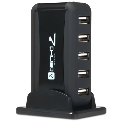 Vertical 7 Ports USB2.0 Hub Charging Dock