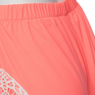 Sweet Elastic Waist Laced Ladies Pink Shorts от GearBest.com INT
