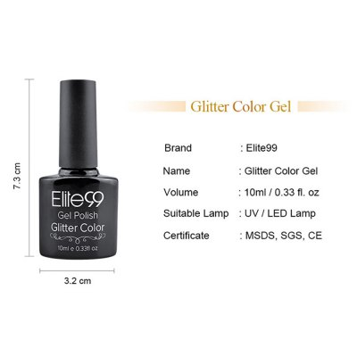 Elite99 Soak Off Diamond Glitter Polish UV LED Soak Off Gel Nail Lacquer 10ml от GearBest.com INT