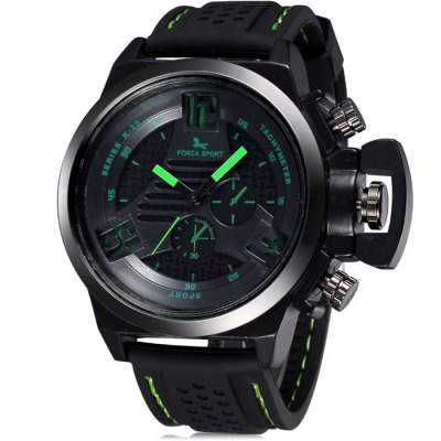 FORZA SPORT 2497 Men Japan Movt Quartz Watch with Silicone Strap