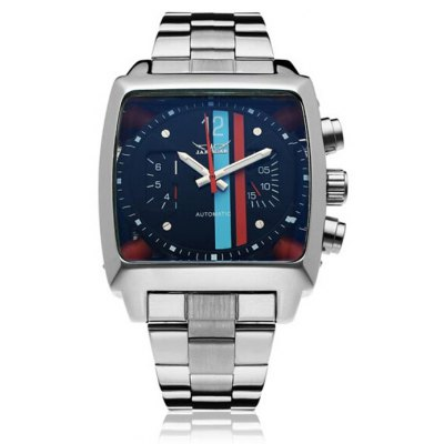 Jaragar Men Stainless Steel Band Automatic Mechanical Watch