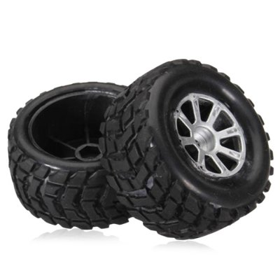Extra Spare Left Tire Fitting for Wltoys A969 Remote Control Car - 2Pcs