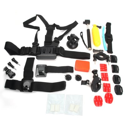 AT396 Photographic Equipment Accessories ( 20Pcs / Set )Action Cameras &amp; Sport DV Accessories<br>AT396 Photographic Equipment Accessories ( 20Pcs / Set )<br><br>Accessory type: Chest Straps, Adhesive Tap, Mount Holder, Screw, Selfie Camera Monopod Stick, Storage Bag, Tethers, Tripod Mount Seat, Velcro Belt, Wearing Accessories Set, Wrist Straps, Anti-fog Inserts<br>Apply to Brand: Gopro,Xiaomi<br>Compatible with: GoPro Hero Series, Soocoo S60, Soocoo C10, SJCAM 5000 plus, SJCAM 4000 plus, SJ7000, SJ6000, SJ5000, SJ4000, A9, Action Camera, AMK 5000, AMK 5000S, Dazzne P2, Dazzne P3, Discovery DS100, Discovery DS200, GitUp Git1, Gitup Git2, Isaw, GoPro Hero 4 Session, Gopro Hero 4, Gopro Hero 3 Plus, Gopro Hero 3, Gopro Hero 2, Gopro Hero 1<br>For Activity: General Sports<br>Package Contents: 1 x Photo Accessories  ( 20Pcs / Set )<br>Package size (L x W x H): 32.00 x 21.00 x 8.00 cm / 12.6 x 8.27 x 3.15 inches<br>Package weight: 1.566 kg<br>Product size (L x W x H): 30.00 x 19.00 x 6.00 cm / 11.81 x 7.48 x 2.36 inches<br>Product weight: 1.266 kg