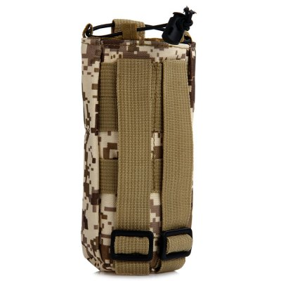 Unisex Nylon Bottle BagWaistpacks<br>Unisex Nylon Bottle Bag<br><br>Color: Black,Khaki,Camouflage,CP,Three Sand Camouflage,ACU Camouflage,Desert Digital Camouflage,Digital Camouflage<br>Features: Water Resistance<br>For: Travel, Adventure, Hiking, Camping, Cycling, Fishing, Climbing, Other<br>Material: Nylon<br>Package Contents: 1 x Water Bottle Bag<br>Package size (L x W x H): 9.0 x 9.0 x 19 cm / 3.54 x 3.54 x 7.47 inches<br>Package weight: 0.060 kg<br>Product size (L x W x H): 7.5 x 7.5 x 17.5 cm / 2.95 x 2.95 x 6.88 inches<br>Product weight: 0.026 kg<br>Type: Bottle Bag