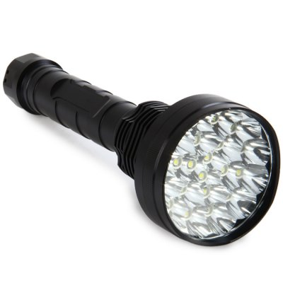 21 x Cree XML T6 LED Police Large FlashlightLED Flashlights<br>21 x Cree XML T6 LED Police Large Flashlight<br><br>Available Light Color: Cool White<br>Battery Included or Not: No<br>Battery Quantity: 4 x 18650 / 4 x 26650 battery (not included)<br>Battery Type: 26650, 18650<br>Beam Distance: 200-300m<br>Body Material: Aluminium Alloy<br>Emitters: XM-L T6<br>Emitters Quantity: 21<br>Feature: Cooling Slot of High Efficiency, Adjustable brightness<br>Flashlight size: Large size<br>Flashlight Type: Tactical<br>Function: Police<br>Lens: Glass Lens<br>Light color: Cool White<br>Light Modes: High,Low,Mid,SOS,Strobe<br>Lumens Range: &gt;9000 Lumens<br>Luminous Flux: 23200LM<br>Package Contents: 1 x LED Flashlight, 1 x Extension Tube, 4 x 18650 Battery Case<br>Package size (L x W x H): 30.00 x 11.50 x 11.50 cm / 11.81 x 4.53 x 4.53 inches<br>Package weight: 1.0000 kg<br>Power Source: Battery<br>Product size (L x W x H): 25.00 x 8.50 x 8.50 cm / 9.84 x 3.35 x 3.35 inches<br>Product weight: 0.6250 kg<br>Reflector: Aluminum Smooth Reflector<br>Switch Location: Tail Cap<br>Waterproof Standard: IP65