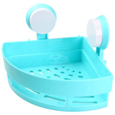 Powerful Suction Plastic Triangle ShelfStorage Holders &amp; Racks<br>Powerful Suction Plastic Triangle Shelf<br><br>Color: Blue<br>For: All<br>Material: ABS<br>Occasion: Kitchen Room, Bathroom<br>Package Contents: 1 x Strong Suction Plastic Triangle Shelf, 2 x Sucker<br>Package size (L x W x H): 21 x 20.3 x 8.8 cm / 8.25 x 7.98 x 3.46 inches<br>Package weight: 0.45 kg<br>Product size (L x W x H): 18 x 18 x 7 cm / 7.07 x 7.07 x 2.75 inches<br>Product weight: 0.173 kg<br>Type: Practical, Fashion