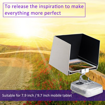 7.9 Inch FPV Mobile Tablet Sun Hood Shade for DJI Inspire 1 / Phantom 3 RC QuadcopterRC Quadcopter Parts<br>7.9 Inch FPV Mobile Tablet Sun Hood Shade for DJI Inspire 1 / Phantom 3 RC Quadcopter<br><br>Brand: DJI<br>Package Contents: 1 x Sun Shade<br>Package size (L x W x H): 22.00 x 15.00 x 2.00 cm / 8.66 x 5.91 x 0.79 inches<br>Package weight: 0.242 kg