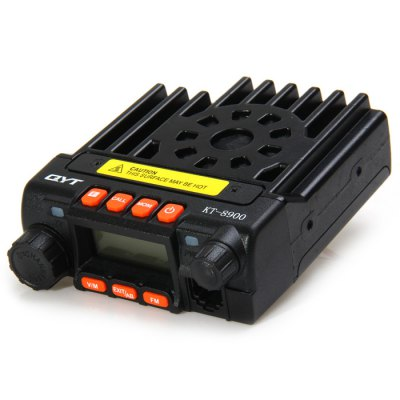 QYT KT8900 Car Mobile Radio Walkie Talkie VHF / UHF Dual BandWalkie Talkies<br>QYT KT8900 Car Mobile Radio Walkie Talkie VHF / UHF Dual Band<br><br>Adjacent Channel Power: more than 70dB / more than 60dB<br>Adjacent Channel Selectivity (wide/narrow): more than 70dB / more than 60dB<br>Audio Distortion: less than 5 percent<br>Audio Power: more than 2W<br>Brand: QYT<br>Channel Spacing: 25KHz, 20K, 12.5K<br>Earpiece/MIC Type: handle wired type<br>FM Noise (broadband/narrowband): more than 40dB / more than 36dB<br>Frequency Range: VHF: 136 - 174MHz, 245 - 245.9875MHz; UHF: 400 - 480MHz<br>Frequency Stability : + / -2.5ppm<br>Frequency Step : 5KHz, 6.25KHz, 10KHz, 12.5KHz, 15KHz, 25KHz<br>Intercom Distance : 10km<br>Intermodulation (broadband/narrowband): more than 65dB / more than 60dB<br>Main Functions : CTCSS/DCS, Minitor, PC Programmable, VOX, PTT ID<br>Model: KT8890<br>Modulation (broadband/narrowband): 16K, F3E; 11K, F3E<br>Modulation Distortion: Less than 5 percent<br>Operating Temperature Range : -20 to +60 Celsius Degree<br>Output Power (high/low): 25W / 20W (VHF / UHF)<br>Package Contents: 1 x Machine, 1 x Microphone, 1 x Mounting Bracket, 1 x Microphone Mounting Bracket (with Screw), 1 x Power Cable, 1 x Fuse, 1 x Set of Screw and Gasket, 1 x Chinese User Manual, 1 x English User Manua<br>Package size (L x W x H): 28.00 x 16.50 x 6.50 cm / 11.02 x 6.5 x 2.56 inches<br>Package weight: 1.040 kg<br>Power Supply: DC 13.8V + / - 15 percent<br>Product size (L x W x H): 11.00 x 9.50 x 3.50 cm / 4.33 x 3.74 x 1.38 inches<br>Product weight: 0.399 kg<br>Receiveing Sensitivity (broadband/narrowband): less than 0.25?V / less than 0.35?V<br>Selectable Channel : 200<br>Special function: Dual Band<br>Spurious Response: more than 70dB / more than 70dB<br>Type: Two way radio