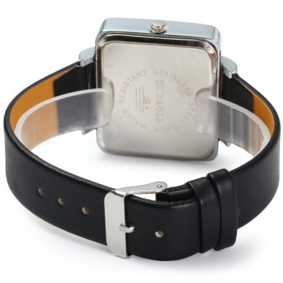 JUBAOLI Female Quartz Watch with Leather BandWomens Watches<br>JUBAOLI Female Quartz Watch with Leather Band<br><br>Available Color: Red, Brown, Black, White, Brown and Golden, White and Golden, Golden and Red, Black and Golden<br>Band material: Leather<br>Brand: Jubaoli<br>Case material: Stainless Steel<br>Clasp type: Pin buckle<br>Display type: Analog<br>Movement type: Quartz watch<br>Package Contents: 1 x JUBAOLI Quartz Watch<br>Package size (L x W x H): 24 x 5 x 1.7 cm / 9.43 x 1.97 x 0.67 inches<br>Package weight: 0.089 kg<br>Product size (L x W x H): 23 x 4 x 0.7 cm / 9.04 x 1.57 x 0.28 inches<br>Product weight: 0.039 kg<br>Shape of the dial: Rectangle<br>Style: Fashion&amp;Casual<br>The band width: 1.8 cm / 0.7 inches<br>The dial diameter: 4.0 cm / 1.6 inches<br>The dial thickness: 0.7 cm / 0.28 inches<br>Watches categories: Female table<br>Water resistance : Life water resistant<br>Wearable length: 16.5 - 20 cm / 6.50 - 7.87 inches