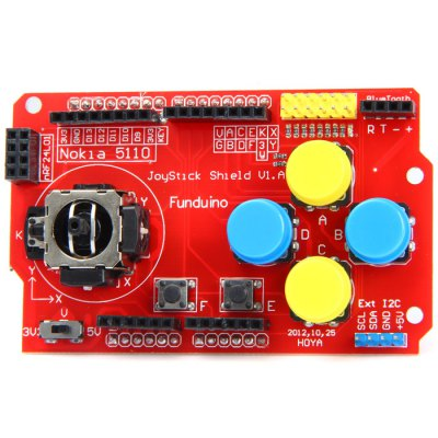 JoyStick Shield V1.0 Rocker Expansion BoardBoards &amp; Shields<br>JoyStick Shield V1.0 Rocker Expansion Board<br><br>Package Contents: 1 x JoyStick Shield V1.0 Rocker Expansion Board<br>Package Size(L x W x H): 15 x 10 x 5 cm / 5.90 x 3.93 x 1.97 inches<br>Package weight: 0.095 kg<br>Product Size(L x W x H): 9 x 6 x 2 cm / 3.54 x 2.36 x 0.79 inches<br>Product weight: 0.037 kg<br>Type: Expansion Board