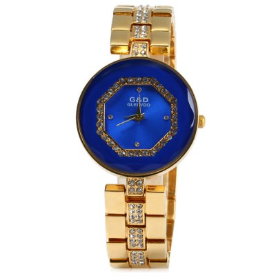 GND Stainless Steel Band Female Diamond Quartz WatchWomens Watches<br>GND Stainless Steel Band Female Diamond Quartz Watch<br><br>Available Color: Black,White,Blue,Gold<br>Band material: Stainless Steel<br>Brand: GND<br>Case material: Stainless Steel<br>Clasp type: Sheet folding clasp<br>Display type: Analog<br>Movement type: Quartz watch<br>Package Contents: 1 x GND Watch<br>Package size (L x W x H): 21 x 4.1 x 1.8 cm / 8.25 x 1.61 x 0.71 inches<br>Package weight: 0.129 kg<br>Product size (L x W x H): 20 x 3.1 x 0.8 cm / 7.86 x 1.22 x 0.31 inches<br>Product weight: 0.079 kg<br>Shape of the dial: Round<br>Style: Fashion&amp;Casual<br>The band width: 1.5 cm / 0.59 inches<br>The dial diameter: 3.1 cm / 1.22 inches<br>The dial thickness: 0.8 cm / 0.31 inches<br>Watches categories: Female table