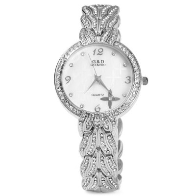 GND Diamond Women Quartz Chain Watch with Stainless Steel BandWomens Watches<br>GND Diamond Women Quartz Chain Watch with Stainless Steel Band<br><br>Available Color: Gold,Silver<br>Band material: Stainless Steel<br>Brand: GND<br>Case material: Stainless Steel<br>Clasp type: Sheet folding clasp<br>Display type: Analog<br>Movement type: Quartz watch<br>Package Contents: 1 x GND Watch<br>Package size (L x W x H): 22.5 x 4.5 x 1.8 cm / 8.84 x 1.77 x 0.71 inches<br>Package weight: 0.122 kg<br>Product size (L x W x H): 21.5 x 3.5 x 0.8 cm / 8.45 x 1.38 x 0.31 inches<br>Product weight: 0.072 kg<br>Shape of the dial: Round<br>Style: Fashion&amp;Casual, Bracelet<br>The band width: 1.5 cm / 0.59 inches<br>The dial diameter: 3.5 cm / 1.38 inches<br>The dial thickness: 0.8 cm / 0.31 inches<br>Watches categories: Female table