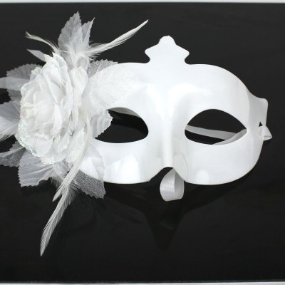 Halloween Masquerade Flower Patterm Lace Plain Mask