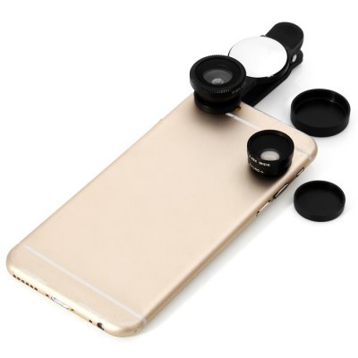 3-in-1 Mobile Phone Clip LensiPhone Lenses<br>3-in-1 Mobile Phone Clip Lens<br><br>Color: Black,Red,Gold,Silver<br>Mainly Compatible with: SAMSUNG, iPhone, Motorola, Sony Ericsson, LG, Blackberry, Nokia, HTC<br>Package Contents: 1 x  Composite Lens, 1 x Pouch<br>Package size (L x W x H): 13.5 x 9.7 x 3.0 cm / 5.31 x 3.81 x 1.18 inches<br>Package weight: 0.110 kg<br>Product size (L x W x H): 7.4 x 2.8 x 2.2 cm / 2.91 x 1.10 x 0.86 inches<br>Product weight: 0.024 kg