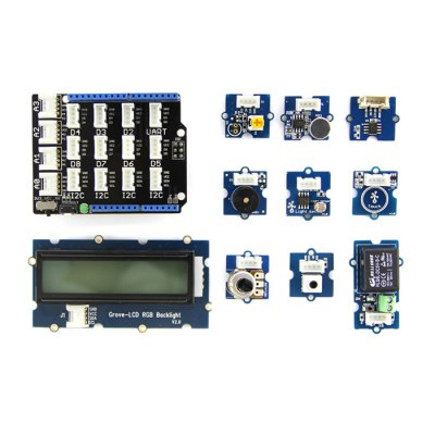 Seeedstudio Grove Starter Learning Board KitKits<br>Seeedstudio Grove Starter Learning Board Kit<br><br>Mainly Compatible with: Ardunio<br>Package Size(L x W x H): 9 x 7 x 3 cm / 3.54 x 2.75 x 1.18 inches<br>Package weight: 0.400 kg<br>Product Size(L x W x H): 6.9 x 5.1 x 1.3 cm / 2.71 x 2.00 x 0.51 inches<br>Product weight: 0.300 kg<br>Suitable for: Arduino