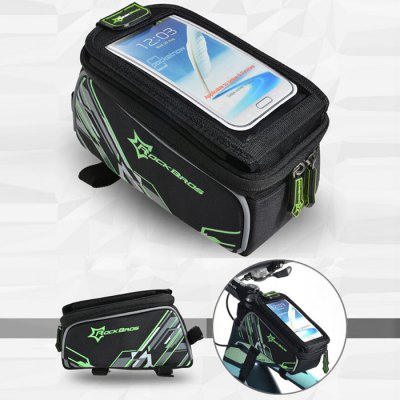 ROCKBROS Bicycle Front Tube BagBike Bags<br>ROCKBROS Bicycle Front Tube Bag<br><br> Product weight: 0.220 kg<br>Brand: ROCKBROS<br>Color: Red,Blue,Green<br>Condition: 100% New<br>For: Unisex<br>Material: Nylon<br>Package Contents: 1 x ROCKBROS Bike Front Tube Bag, 1 x Thickened Pad, 1 x Headphone Extension Cord, 1 x Waterproof Bag Cover<br>Package size (L x W x H): 20.5 x 11.0 x 10.0 cm / 8.06 x 4.32 x 3.93 inches<br>Package weight: 0.260 kg<br>Product size (L x W x H): 19.5 x 10.0 x 9.0 cm / 7.66 x 3.93 x 3.54 inches<br>Suitable for: Road Bike, Mountain Bicycle, Bike<br>Type: Bicycle Bag