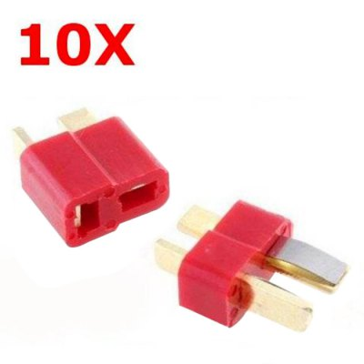 ST Fireproof T Plug Connector for RC ESC Battery 10Pcs