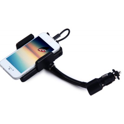 Handsfree In-car FM Transmitter Charger with Rotating Holder