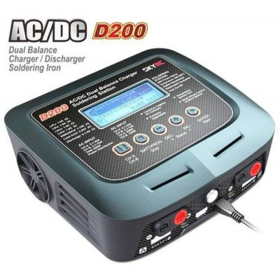 SKYRC D200 AC / DC Dual Balance Charger Discharger ( US Plug ) With Soldering Iron