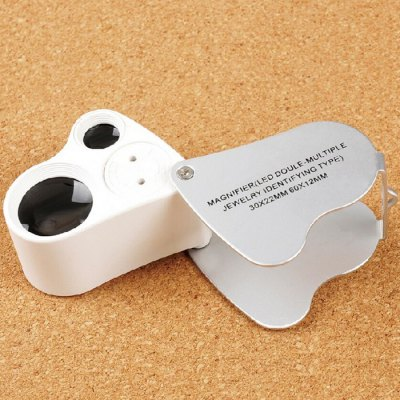 FX Magnifiers with 22mm and 12mm Lens DiameterBinoculars and Telescopes<br>FX Magnifiers with 22mm and 12mm Lens Diameter<br><br>Brand: FX<br>Color: White<br>For: Daily Use, Experiment, Home use<br>LED Quantity: 2<br>Package Contents: 1 x FX 30x / 60x Magnifier ( Built-in 3 LR1130 Button Batteries ), 1 x Storage Box<br>Package size (L x W x H): 9.00 x 6.50 x 3.80 cm / 3.54 x 2.56 x 1.5 inches<br>Package weight: 0.141 kg<br>Product size (L x W x H): 8.40 x 6.00 x 3.50 cm / 3.31 x 2.36 x 1.38 inches<br>Product weight: 0.077 kg<br>Type: Magnifier