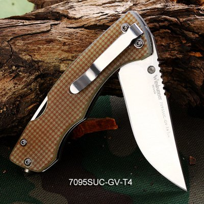 Sanrenmu 7095 SUC - GV - T4 Folding Knife with Bottle Opener and Belt CuttingPocket Knives and Folding Knives<br>Sanrenmu 7095 SUC - GV - T4 Folding Knife with Bottle Opener and Belt Cutting<br><br>Blade Length: 6.6 cm / 2.60 inches<br>Blade Width : 2.2 cm / 0.87 inches<br>Brand: Sanrenmu<br>Color: Apricot,Camouflage,Claret<br>Fold Length: 9.5 cm / 3.74 inches<br>For: Camping, Climbing, Daily Use, Hiking, Home use, Adventure<br>Material: Stainless Steel<br>Package Contents: 1 x Sanrenmu 7095 SUC - GV - T4 Folding Knife<br>Package size (L x W x H): 15.00 x 8.20 x 2.00 cm / 5.91 x 3.23 x 0.79 inches<br>Package weight: 0.147 kg<br>Product size (L x W x H): 9.50 x 2.50 x 1.20 cm / 3.74 x 0.98 x 0.47 inches<br>Product weight: 0.075 kg<br>Type: Multitools<br>Unfold Length: 16.2 cm / 6.34 inches