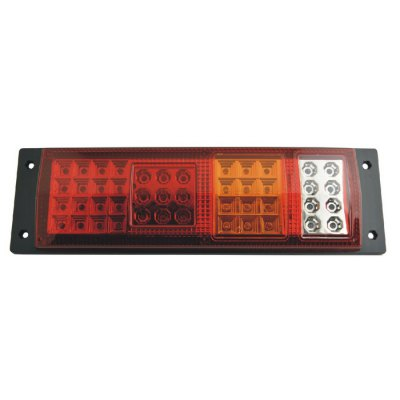 DB-5032 LED Tail LampCar Lights<br>DB-5032 LED Tail Lamp<br><br>Apply lamp position : External Lights<br>Connector: Cable Connector<br>Emitting color: White,Assorted Colors,Red,Yellow<br>Feature: Easy to use<br>LED/Bulb quantity: 45 LED<br>Light mode: Steady<br>Material: Plastic<br>Model: DB-5032<br>Package Contents: 2 x DB-5032 Tail Light<br>Package size (L x W x H): 37.7 x 11 x 11 cm / 14.82 x 4.32 x 4.32 inches<br>Package weight: 0.908 kg<br>Product size (L x W x H): 36 x 10.5 x 3 cm / 14.15 x 4.13 x 1.18 inches<br>Product weight: 0.793 kg<br>Type: Rear Turn Signal, Rear Lights, Additional Brake Lights<br>Type of lamp-house : LED<br>Voltage: 12V