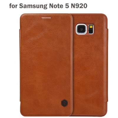 Nillkin Card Holder Design Phone Protective Cover Case with PU and PC Material for Samsung Galaxy Note 5 N9200